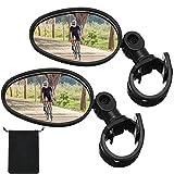 2 Pieces Bike Mirror 360 Degree Adjustable Rotatable Handlebar Mirror Wide Angle Bicycle Mirror...