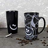 Gift Republic Mug Chat du Cheshire, Noir