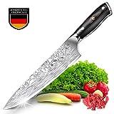 Teclat Cuchillo de Cocina Cuchillo de Chef alemán Genuino de Acero Inoxidable con ergonómico - Mango Robusto - Cuchillo Ultra Afilado Cocina - Antiadherente y anticorrosión (8 Pulgadas / 20.3 cm)