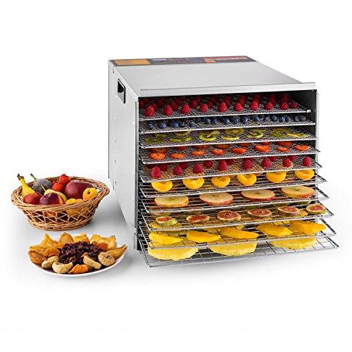 KLARSTEIN Fruit Jerky Pro 10 - apparecchio disidratatore, essiccatore, 1000 Watt, 10 piani,...
