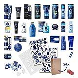Calendrier de l'Avent NIVEA DIY pour homme 2020 avec décorations durables à remplir, y compris 24 produits, boîtes pliantes et décoration pour un design personnalisé - valeur de 88 EUR