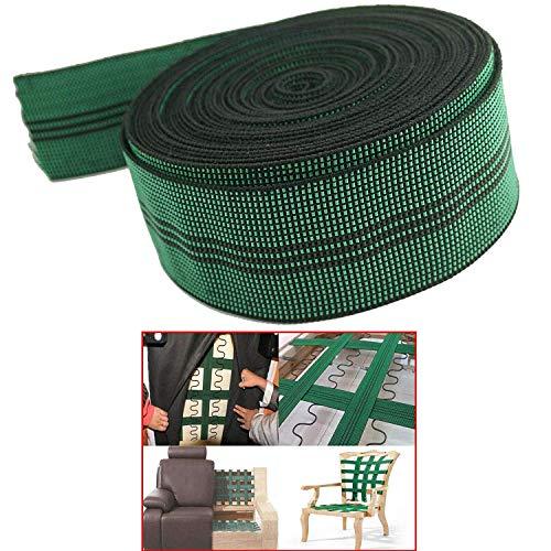 Pmsanzay - Fascia elastica in 10% lattice elasticizzato per tappezzeria, fascia elastica da 5,1 cm di larghezza x 50 m, per divano, sedie, riparazione mobili fai da te o di ricambio