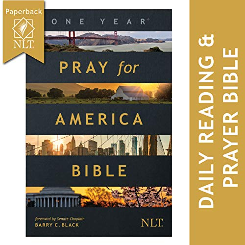 The One Year Pray for America Bible, NLT (Paperback) – Inspirational Daily Bible with Non-Partisan Prayer Prompts