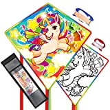 Mint's Colorful Life Unicorn Kite for Kids Easy to Fly, with an Additional Color-Your-own Kite for Your Girls to Decorate