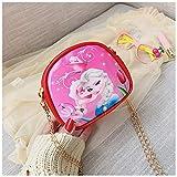 weichuang Mochila para niños Frozen Elsa Bolsas de hombro para niños, princesa, niñas, bolso de mensajero, para niña, lindo bolso de hombro de poliuretano, mochila para niños (color: 2)