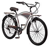 Kulana Lakona Tide Adult Beach Cruiser Bike, 26-Inch Wheels, 7-Speed, Silver (R7312AZ)