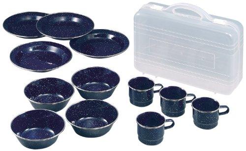キャプテンスタッグ(CAPTAIN STAG) ウエストホーロー食器セット 【皿・ボウル・マグカップ各4個セット/ケー...
