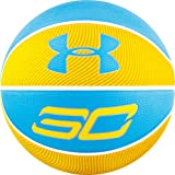 Under Armour Stephen Curry Player Outdoor Basketball,Yellow/Blue,29.5 / OFFICIAL SIZE / SIZE 7