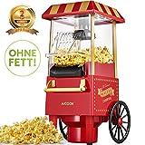 Aicook Machine à Pop Corn, 1200W Retro Machine à Popcorn avec Air Chaud,...