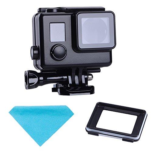 Suptig, custodia protettiva di ricambio per macchina fotografica GoPro Hero 4, 3+, 3, impermeabile, per sport all'aperto e per uso subacqueo, impermeabile fino a 45m, colore nero