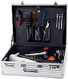 Bolsa de peine Caja de herramientas del peluquero de las podadoras de almacenamiento maleta de aluminio Flight Case Caja de herramientas Herramienta Organizador Caja de almacenamiento con cerradura de
