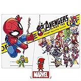 ZAQ Marvel Maleta Pegatinas Héroe Big Spider-Man Iron Man Anime Caja De Viaje Decorada Pegatina Impermeable