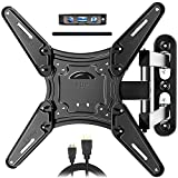 JUSTSTONE TV Wall Mount Full Motion for Most 28-60 Inch TVs, Wall Mount for TV with Swivel...
