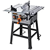 TACKLIFE Table Saw, 10-Inch 15-Amp Table Saw, Cutting Speed up to 4800RPM, Aluminum...