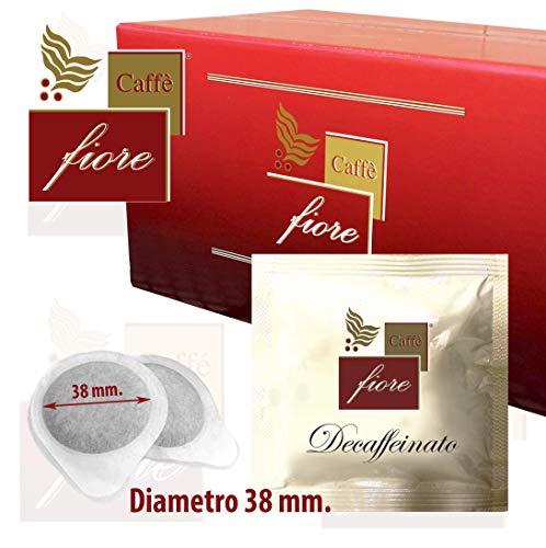 100 Cialde Caffè fiore 38 mm diametro miscela Decaffeinato di Qualità Superiore