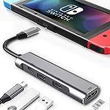 RREAKA USB Type C to HDMI Digital AV Multiport Hub,USB-C (USB3.1) Adapter PD Charger for Nintendo Switch,Portable 4K HDMI Dock for Samsung Dex Station S21/S20/Note20/TabS7 Travel TV Docking Station