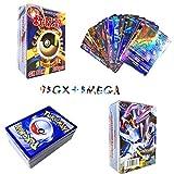 Sinwind Pokémon Cartes, Jeux De Cartes 100 Pcs Pokemon Cartes Style, 95GX + 5...