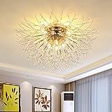 Dellemade Sputnik Chandelier,8 Lights Flush Mount Ceiling Light (Gold)
