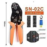 Crimpadora SN-02C terminales aislados de engaste herramienta U-Y de tipo tenaza de prensar terminales 0,25-2,5 (Size : SN-02C)