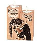Portavelas en forma de corazón, Navidad, San Valentín, cumpleaños,...