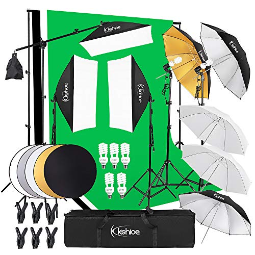 Kshioe Photography Lighting Kit:6.5x10feet/2x3m Backdrops Stand...