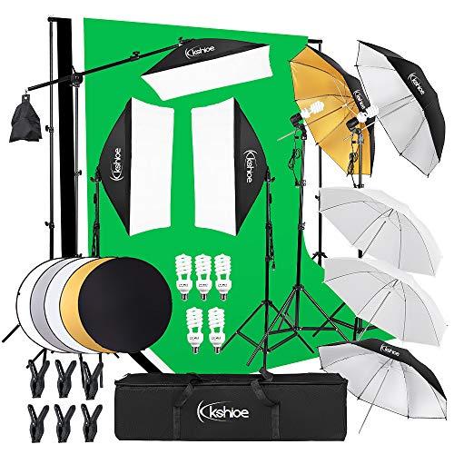 Kshioe Photography Lighting Kit:6.5x10feet/2x3m Backdrops Stand...
