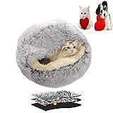 2021 la plus récente grotte de lit de chat, maison de lit de chat de beignet en...