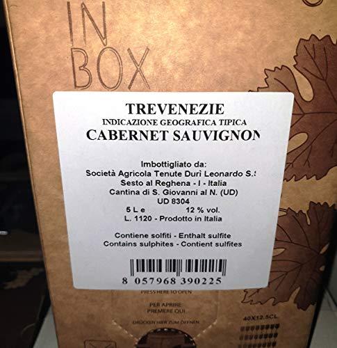 SOCIETA' AGRICOLA TENUTE DURI' LEONARDO BAG IN BOX 5 LITRI VINO ROSSO CABERNET SAUVIGNON - IMBALLO DA 2 PEZZI (TOT 10 LITRI)