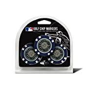 Product dimensions (inches): 4 x 0.5 x 5; Weight: 0.14 lbs Features include: Team logo on back of chip & Strong magnet to hold marker Set includes: 3 colored golf chip ball markers & 3 double sided enamel color fill magnetic markers Perfect for showi...