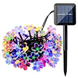 Solar String Lights, 60 LED Blossom Solar Powered Outdoor Fairy Garden Lights 36Ft 8 Modes Color Changing Waterproof Flower Solar Lights for Patio, Yard, Tree, Home, Lawn, Wedding, Party