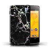 Stuff4 Coque pour LG Nexus 4/E960 Effet Marbre Holographique Couleur Arc-en-Ciel...