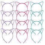 Cornucopia-Brands-Cat-Ear-Headbands-24-Pcs-6-Colors-Hair-Accessory-Party-Favor-Dress-up-Costume