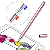 Stylus Pen LIBERRWAY Disc Stylus Fiber Stylus with Magnetically Attached Cap, Fits for Universal Touch Screens, Rosegold