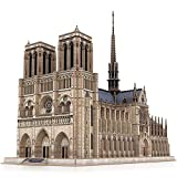 CubicFun 3D Brain Teaser Puzzles for Adults Large Challenge French Cathedral Architecture Building Model Craft Kits Gifts for Men as Hobbies, Notre Dame de Paris 293 Pieces