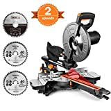 TACKLIFE Scie à Onglet Coulissante, 3200 / 4500tpm, Double Vitesse, 2000W,...