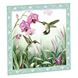 Spring Hummingbird 23'Wx26'H Magnetic Dishwasher Cover, Green