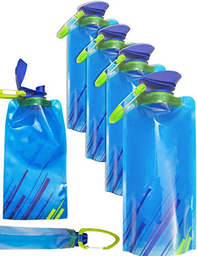 Outdoor saxx–Lot de 4gourdes pliables mousqueton, sans BPA, peu...