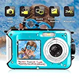Underwater Camera Waterproof Digital Camera for Snorkeling, Waterproof Camera FHD 2.7K 48 MP Selfie Dual Screen Video Recorder Camcorder Point & Shoot Camera