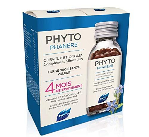 Phyto Phytophanere Complément alimentaire pour cheveux et ongles – 4 mois de traitement – 120 + 120 capsules