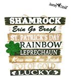 St. Patrick's Day Welcome Sign (BONUS GLITTER SHIMMERS) Luck Patricks Patrick Wall Hanging Decoration Pot of Luck Lucky