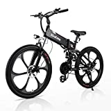 Electric Bikes for Adults, RINKMO 26' 350W Folding Mountain Ebike Aluminum with 10AH Removable...