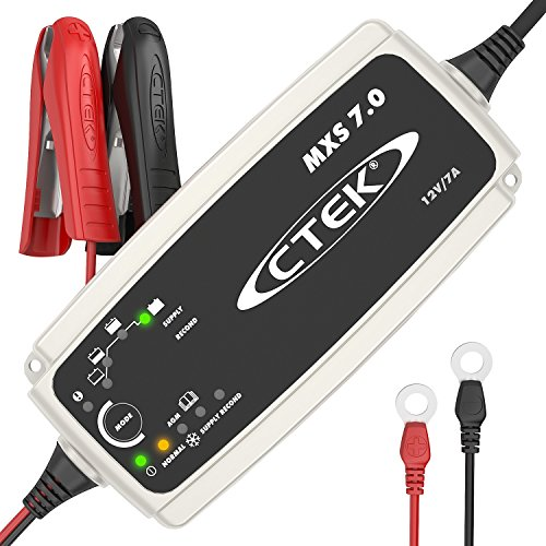 CTEK MXS 7.0 Fully Automatic Battery Charger (Charges, Maintains and Reconditions Car, Caravan & Motorhome batteries) 12V, 7 Amp - UK Plug