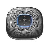 Anker PowerConf - Altoparlante Bluetooth per conferenze con 6 microfoni integrati, registrazione audio migliorata, 24 batterie e connettività USB-C per home office (nero)