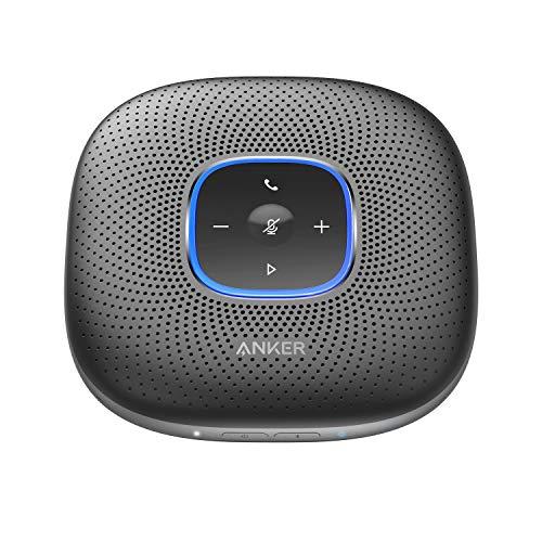 Anker PowerConf Bluetooth Lautsprecher mit 6 integrierten Mikrofonen, verbesserter Tonaufnahme, 24 Stunden Gesprächszeit, Bluetooth 5, USB-C Konnektivität; PowerIQ Technologie, für Homeoffice