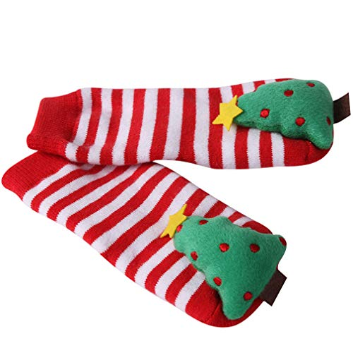 Toddler Christmas Socks, HAPYCEO Baby Boy Girl Thickened Anti-skid Xmas Gift Socks, 6-18 Months