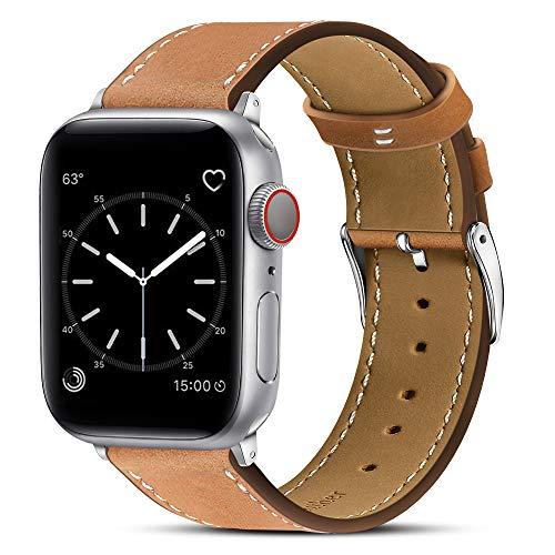 BRG コンパチブル apple watch バンド,本革 ビジネススタイル アップルウォッチバンド アップルウォッチ4 a...