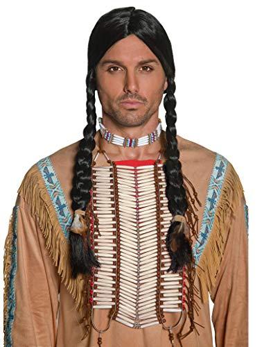 Smiffys-36177 Coraza Inspirado por los Americanos nativos, Blanca, Color Crema, No es Applicable (Smiffy'S 36177)