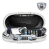 MASTER LOCK Mini Coffre-fort Portable [Avec Câble] [Combinaison] [Blanc] 5900EURDWHT – Assurez la...