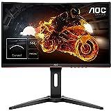 AOC Écran PC gamer incurvé C24G1 59,9cm (23,6pouces) (FHD, HDMI, temps de réponse de 1ms, DisplayPort, 144Hz, 1920 x 1080 px, FreeSync) noir
