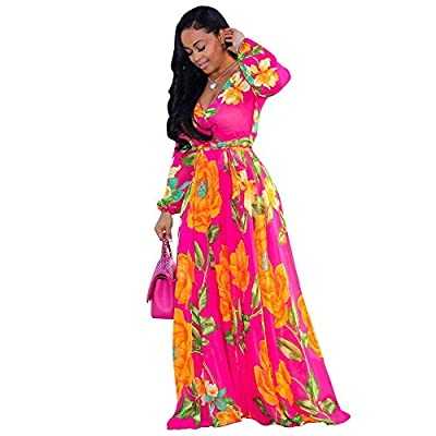 Women's v neck summer boho maxi dresses which was made for lightweight and soft materail,that will let you feel comfortable.Besides,we provided 30 colors and size from S-XXL for you to choose,Every dresses with different patterns,ladies in all age ca...